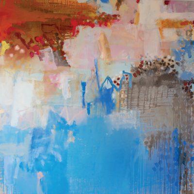 Jo Davenport, Fifteen Miuntes of Gold 2015, Belgian Linen, collection of the artist