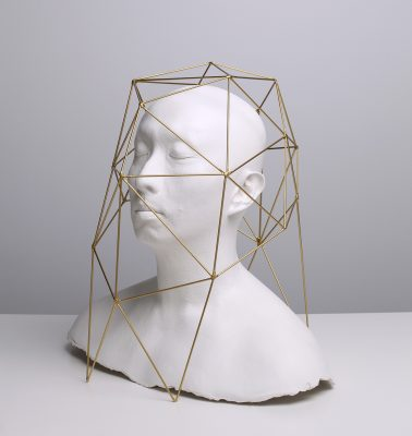 owen-leong-force-field-amygdala-2016-plaster-gilded-brass-43-5-x-45-x-31-5-cm