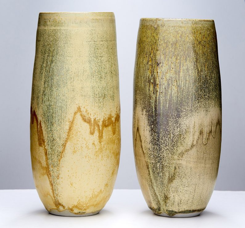 Bridget Foley, Shifting Sands, 2017, Porcelaneous Stoneware, Nickel Yellow  Glaze, Wheel Thrown, Reduction Fired To 1300u2070C, Dimensions Variable.