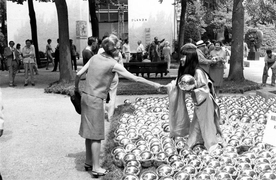 """Yayoi Kusama's """"Narcissus Garden"""" in Venice Biennale"""