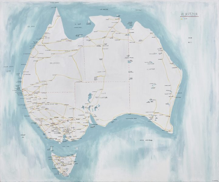 First Map Of Australia.Landscape Mapped Noel Mckenna S Quirky Cartography Art Guide